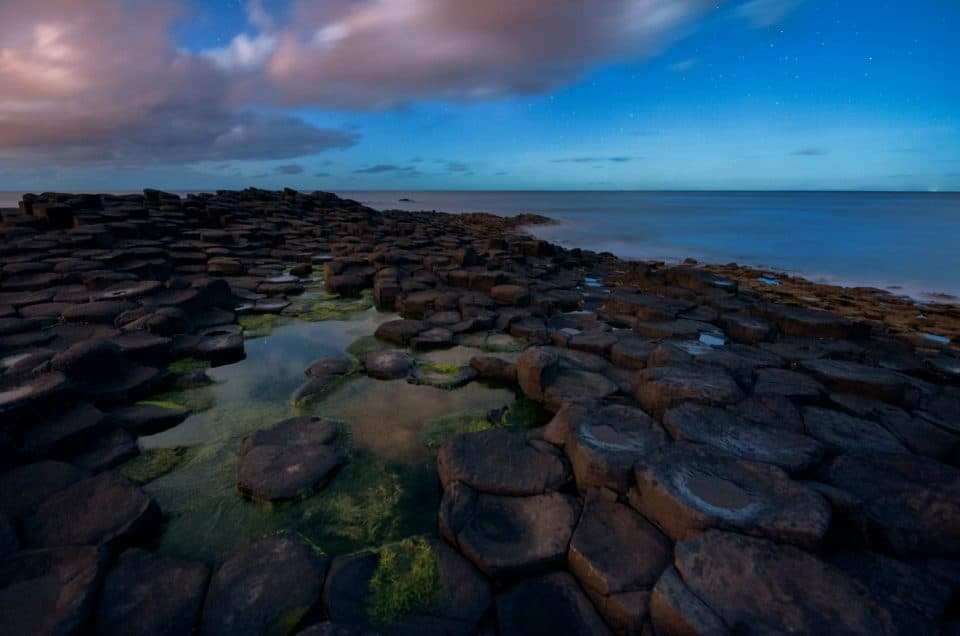 Shooting The Giants Causeway under moonlight 7