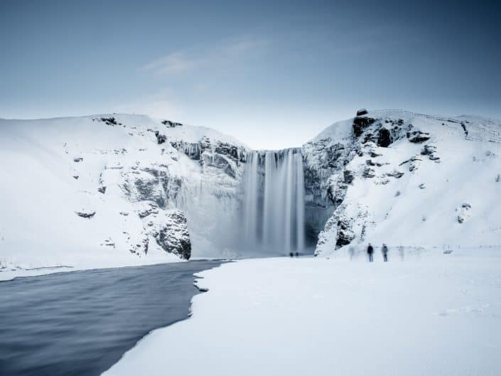 Winter Skógafoss, Iceland