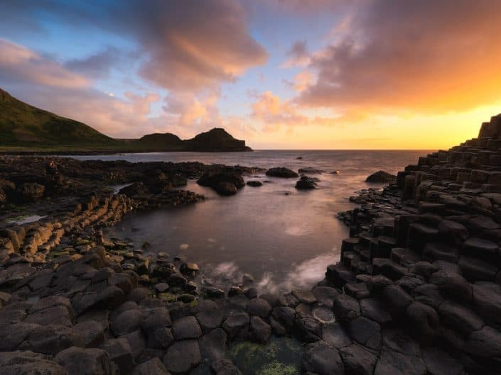 Sunset, Giants Causeway, Northern Ireland